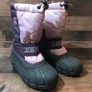 Sorel Girl's Pink & Purple Winter Boots Size 1